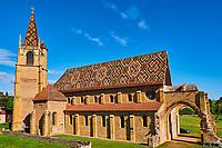France, Loire (42), église de La Bénisson-Dieu, ancien monastère cistercien, Brionnais // France, Burgundy, Loire, La Bénisson-Dieu church
