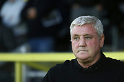Aston Villa Manager Steve Bruce (41) during the second round or the Carabao EFL Cup match between Burton Albion and Aston Villa at the Pirelli Stadium, Burton upon Trent, England on 28 August 2018.