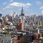 lower east side looking toward midtown Manhattan