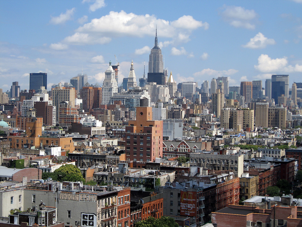 lower east side looking toward midtown Manhattan