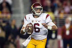 SANTA CLARA, CA - DECEMBER 05:  Quarterback Cody Kessler #6 of the USC Trojans passes against the Stanford Cardinal during the first quarter of the Pac-12 Championship game at Levi's Stadium on December 5, 2015 in Santa Clara, California. The Stanford Cardinal defeated the USC Trojans 41-22. (Photo by Jason O. Watson/Getty Images) *** Local Caption *** Cody Kessler