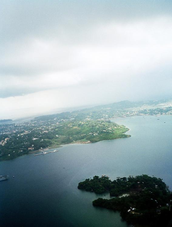 Aerial view of Port Blair, South Andaman Island