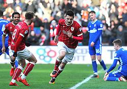 Milan Djuric of Bristol City scores a goal making it 1-0 - Mandatory by-line: Nizaam Jones/JMP - 17/03/2018 - FOOTBALL - Ashton Gate Stadium- Bristol, England - Bristol City v Ipswich Town - Sky Bet Championship