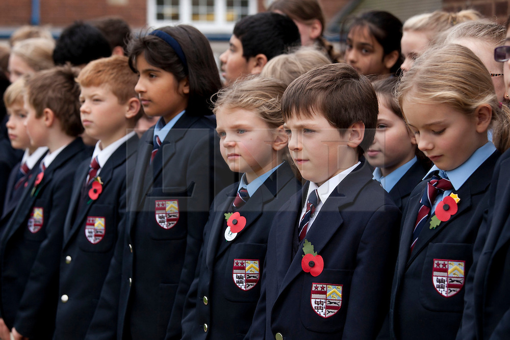 © under licence to London News Pictures 11/11/2010 Solihull School, West Midlands, came to a standstill at 11am this morning to take part in the school Armistice service. Pupils stand in silence during the Armistice service...