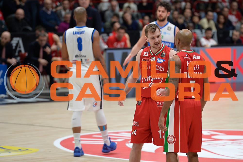 Hickman Richard,Dragic Zoran<br /> Olimpia EA7 Emporio Armani Milano vs Basket Leonessa Brescia<br /> Lega A 2016/2017<br /> Milano 12/02/2017<br /> Foto Ciamillo-Castoria