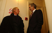 Charles Dance and Eric Abraham. Opening night of Embers, Duke of York's theatre. St. Martin's Lane. London. 1 March 2006. ONE TIME USE ONLY - DO NOT ARCHIVE  © Copyright Photograph by Dafydd Jones 66 Stockwell Park Rd. London SW9 0DA Tel 020 7733 0108 www.dafjones.com