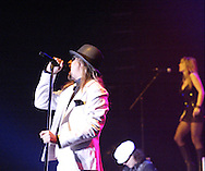 Kid Rock (left) performs at Hara Arena, Tuesday, January 29, 2008.