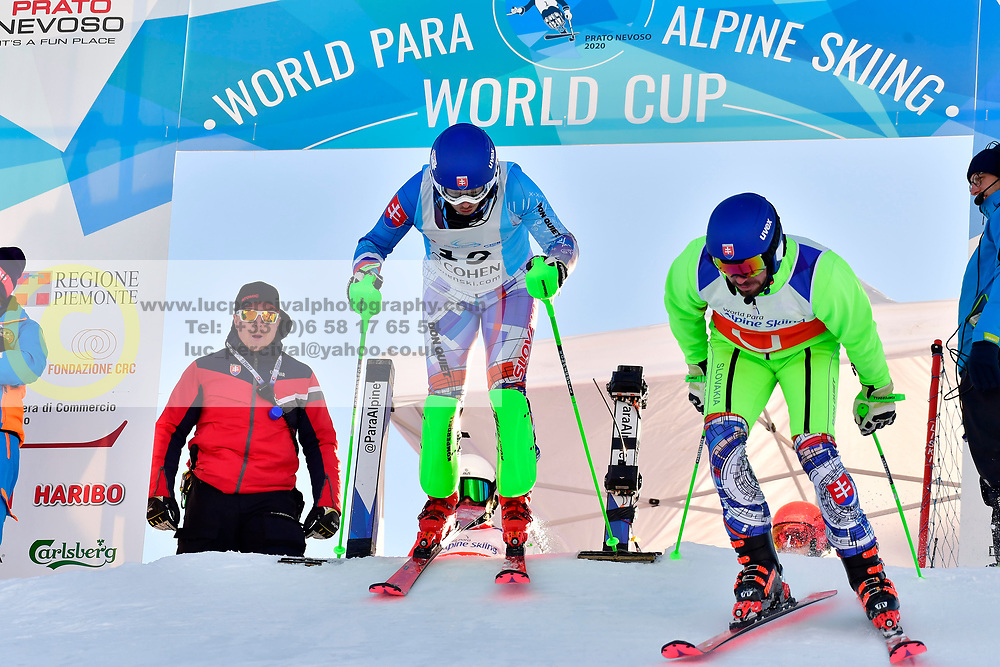 HARAUS Miroslav, Guide HUDIK Maros, B2, SVK at the World ParaAlpine World Cup Prato Nevoso, Italy