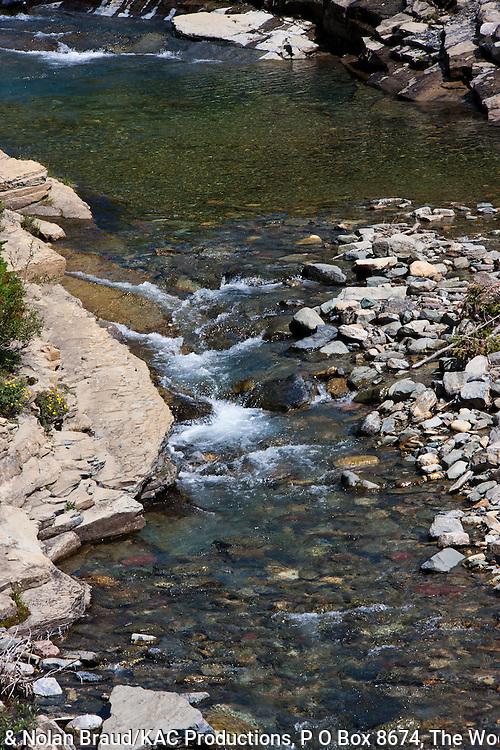Siyeh Creek in Glacier National Park in Montana.