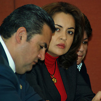 Toluca, Mex.- Los diputados Ana Lilia Herrera Anzaldo del PRI y Alejandro Agundis del PVEM, durante la reunion de los integrantes de la comision de asuntos electorales del congreso del estado con el colegio de abogados. Agencia MVT / Jose Hernandez. (DIGITAL)<br /> <br /> <br /> <br /> <br /> <br /> <br /> <br /> NO ARCHIVAR - NO ARCHIVE