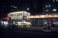 John Lennon and Yoko Ono's antiwar ad in Times Square, NY