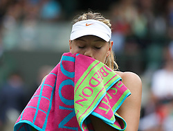 24.06.2011, Wimbledon, London, GBR, Wimbledon Tennis Championships, im Bild Maria Sharapova (RUS) looks dejected during the Ladies' Singles 2nd Round match on day five of the Wimbledon Lawn Tennis Championships at the All England Lawn Tennis and Croquet Club, EXPA Pictures © 2011, PhotoCredit: EXPA/ Propaganda/ *** ATTENTION *** UK OUT!
