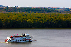 Mississippi River & Palisades state Park Royalty Free Stock Images