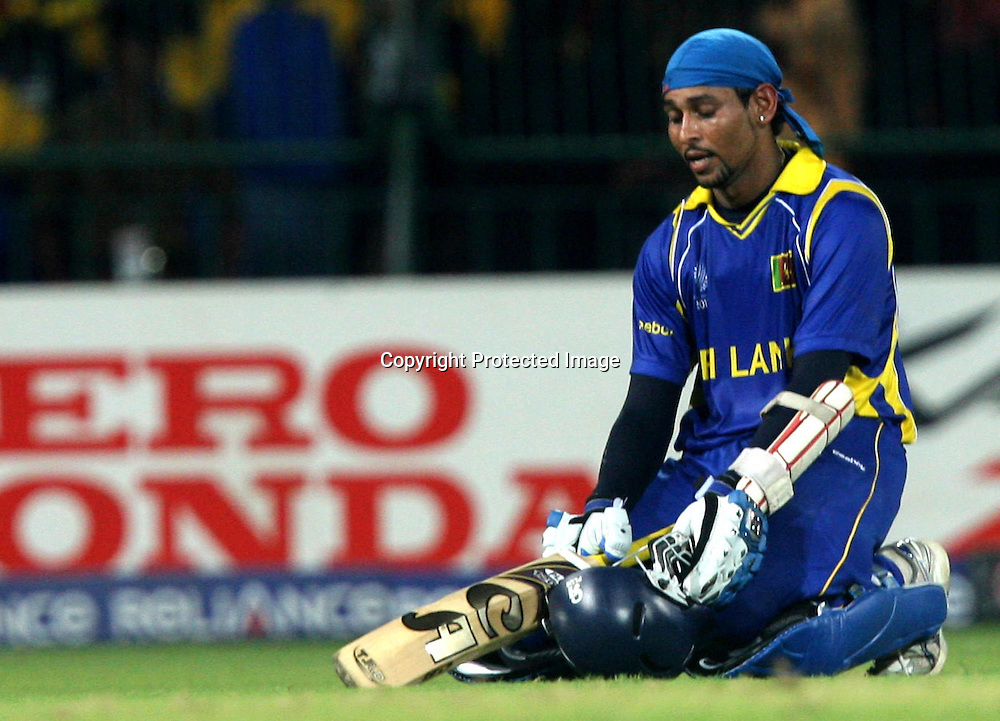 Sri Lankan batsman Tillakaratne Dilshan after won the match against England during the ICC Cricket World Cup - 4th Quarter-Final Played at R Premadasa Stadium, Colombo