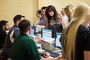 New Bobcats and parents sign in for Bobcat Student Orientation on Friday, June 5, 2015.  Photo by Ohio University  /  Rob Hardin