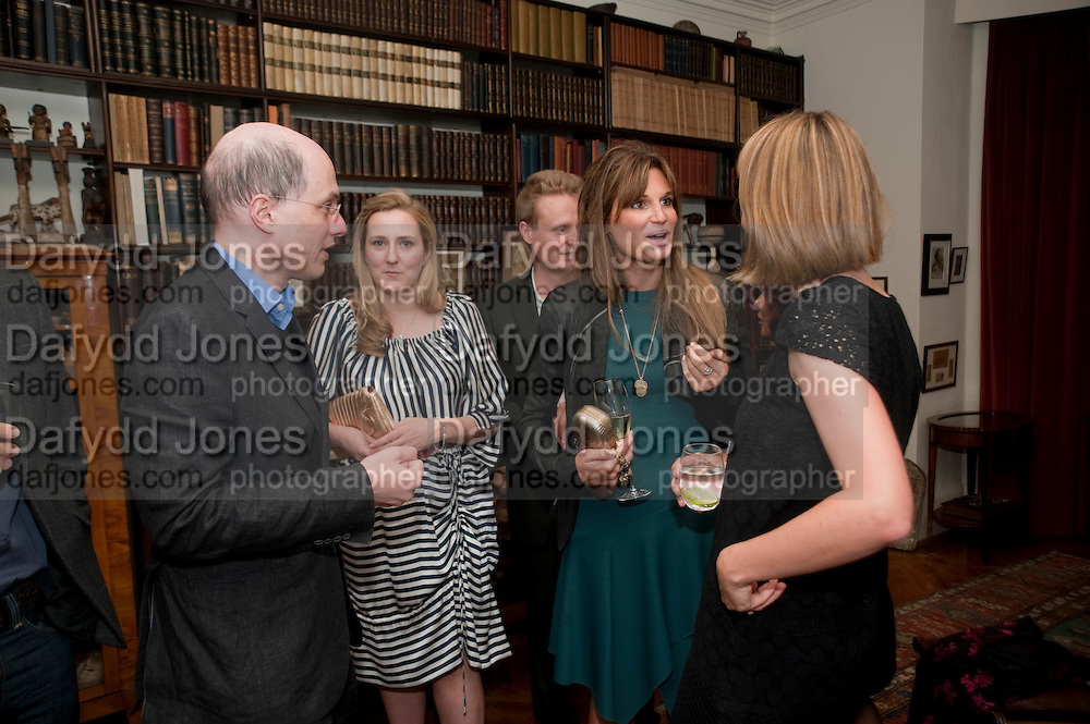 ALAIN DE BOTTON; SUSIE BOYT; JEMIMA KHAN,, Freud Museum dinner, Maresfield Gardens. 16 June 2011. <br /> <br />  , -DO NOT ARCHIVE-© Copyright Photograph by Dafydd Jones. 248 Clapham Rd. London SW9 0PZ. Tel 0207 820 0771. www.dafjones.com.