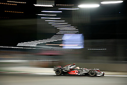SINGAPORE, SINGAPORE - Friday, September 26, 2008: Lewis Hamilton (Vodafone McLaren Mercedes) during qualifying for the Singapore Formula One Grand Prix at the Marina Bay Street Circuit in Singapore. The event will be the first Formula One race held at night. (Photo by Jirí Krenek/Hochzwei/Propaganda)