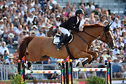 Paris, France : Marcus Ehning riding Pret A Tout during the Longines Paris Eiffel Jumping 2018, on July 5th to 7th, 2018 at the Champ de Mars in Paris, France - Photo Christophe Bricot / ProSportsImages / DPPI