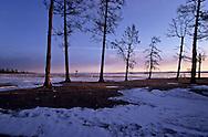 Mongolia. huvsgul lake, frozen in winter, north of mongolia