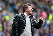 Milton Keynes Dons manager Karl Robinson during the Sky Bet Championship match between Milton Keynes Dons and Brighton and Hove Albion at stadium:mk, Milton Keynes, England on 19 March 2016. Photo by Bennett Dean.