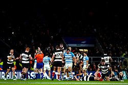 Barbarians celebrate beating Argentina - Mandatory by-line: Robbie Stephenson/JMP - 01/12/2018 - RUGBY - Twickenham Stadium - London, England - Barbarians v Argentina - Killick Cup