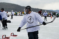 Pond Hockey Classic on Meredith Bay February 1, 2013.