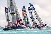 Great Sound, Bermuda. 15th June 2017. Red Bull Youth America's Cup. Start of race 1 of Qualifier 2 (Group A)