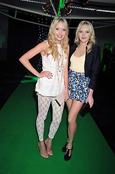 Sisters SAMANTHA MARCHANT and AMANDA MARCHANT at the premier of Ben Ten Alien Force at the Old Billingsgate Market, City of London on 15th February 2009.
