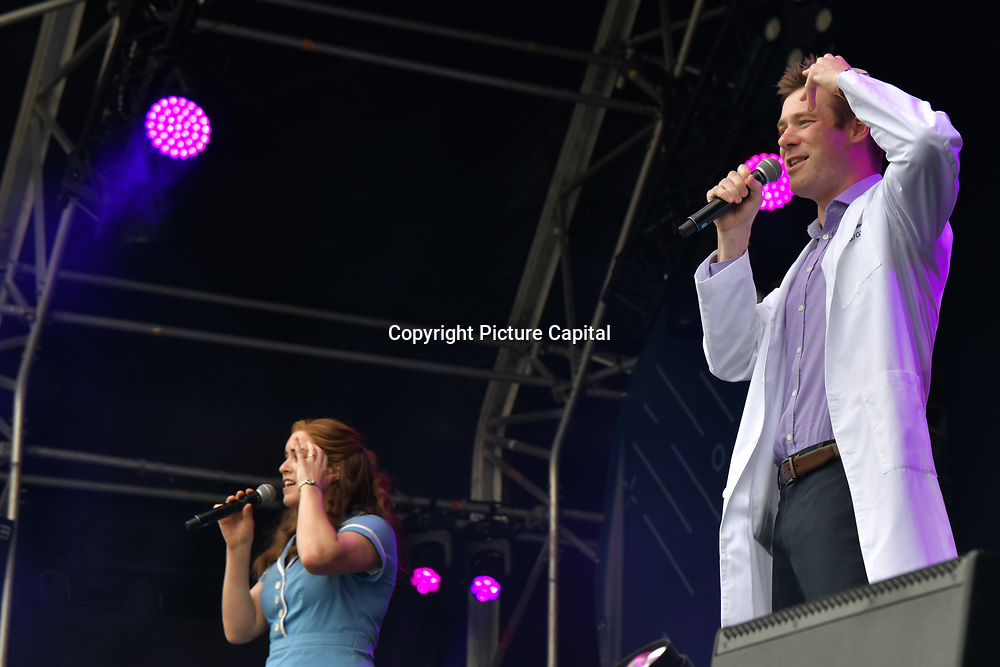 Waitress performs at West End Live 2019 - Day 2 in Trafalgar Square, on 23 June 2019, London, UK.