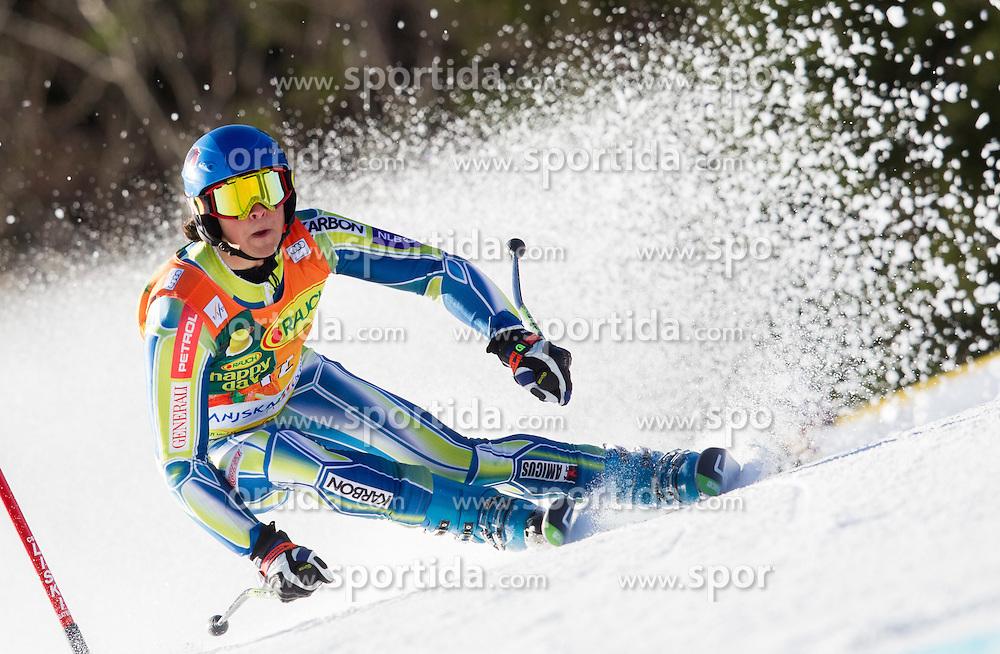 Forerunner Rok Kejzar of Slovenia prior to the 1st Run of 8th Men's Giant Slalom - Pokal Vitranc 2012 of FIS Alpine Ski World Cup 2011/2012, on March 10, 2012 in Vitranc, Kranjska Gora, Slovenia.  (Photo By Vid Ponikvar / Sportida.com)