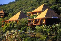 Virgin Gorda, BVI cabanas on the Caribbean Sea.