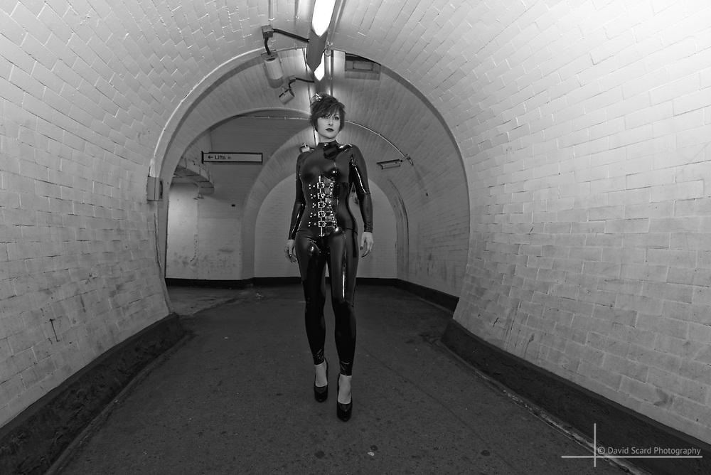 A permission night shoot in an underground station, London