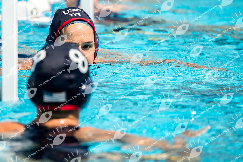 FATTAL Rachel USA  <br /> RSA (white cap) -  USA (blue cap)<br /> Preliminary Round Water Polo<br /> Day03  16/07/2017 <br /> XVII FINA World Championships Aquatics<br /> Alfred Hajos Complex Margaret Island  <br /> Budapest Hungary <br /> Photo @ Deepbluemedia/Insidefoto