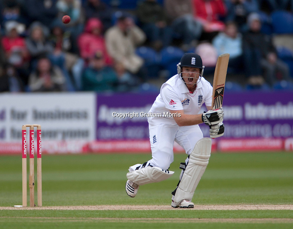 Ian Bell bats during the first npower Test Match between England and Sri Lanka at the SWALEC Stadium, Cardiff.  Photo: Graham Morris (Tel: +44(0)20 8969 4192 Email: sales@cricketpix.com) 29/05/11