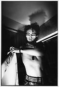 Adam Ant in dressing room,1980