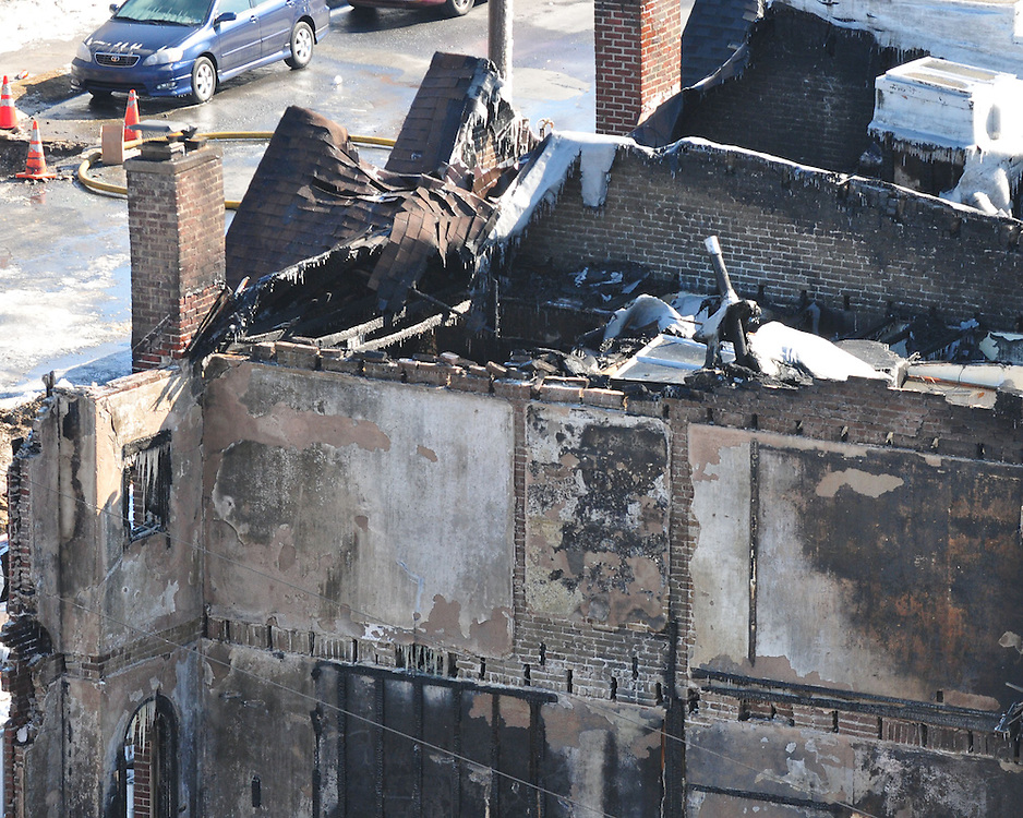2/10/2011 Allentown, PA A destroyed home, the site of a  fatality explosion near the intersection of 13th and Allen Street. Express-Times Photo |CHRIS POST