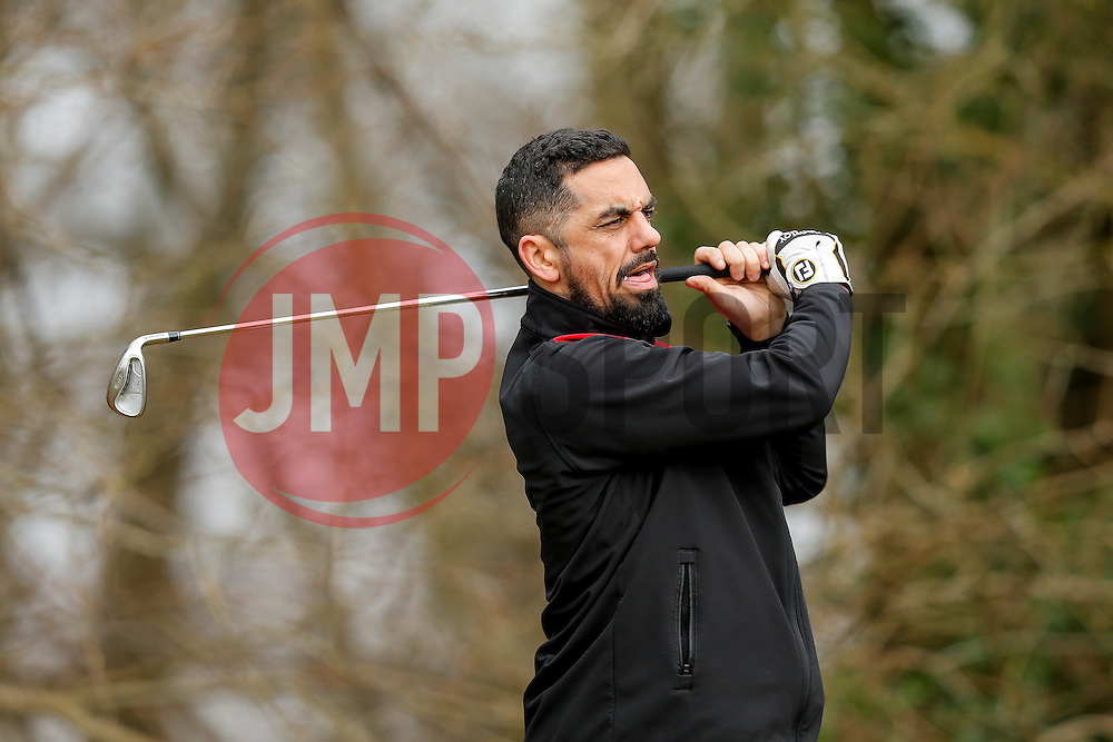 Former City player Scotty Murray joins team Notreve FC as they take part in the Bristol City charity Golf day, in aid of Childrens Hospice South West - Mandatory byline: Rogan Thomson/JMP - 16/03/2016 - GOLF - Henbury Golf Club - Bristol, England - Bristol City Charity Golf Day.