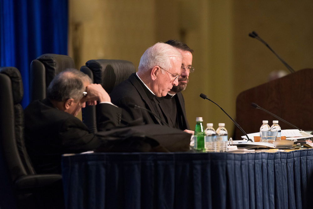 BALTIMORE 15 NOVEMBER: Images from the final public portion of the USCCB Conference in Baltimore, Maryland on November 15, 2016. Bishop Mansour discussed the plight of the Middle Eastern Church and the persecutions. Sister Donna Markam, OP and President of Catholic Charities spoke about the challenges that they face as an organization.