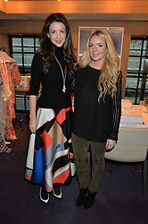 LONDON, ENGLAND 2 DECEMBER 2016: <br /> Left to right, Georgia Thompson Founder & Creative Director of EVARAE and Shirley Leigh-Wood Oakes at a breakfast attended by a host of influencers, press and VIPs to celebrate the official launch of EVARAE the new British luxury resort wear brand, held at The Hari Hotel, 20 Chesham Place, London.  England. 2 December 2016.