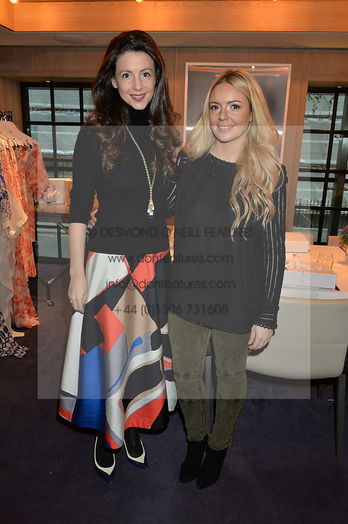 LONDON, ENGLAND 2 DECEMBER 2016: <br /> Left to right, Georgia Thompson Founder &amp; Creative Director of EVARAE and Shirley Leigh-Wood Oakes at a breakfast attended by a host of influencers, press and VIPs to celebrate the official launch of EVARAE the new British luxury resort wear brand, held at The Hari Hotel, 20 Chesham Place, London.  England. 2 December 2016.