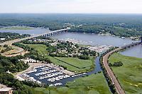 Baldwin Bridge (I-95) and Amtrack Bridge, Old Saybrook, CT