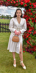Doina Ciobanu at the Cartier Queen's Cup Polo 2019 held at Guards Polo Club, Windsor, Berkshire. UK 16 June 2019. <br /> <br /> Photo by Dominic O'Neill/Desmond O'Neill Features Ltd.  +44(0)7092 235465  www.donfeatures.com