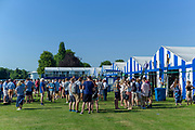 "Henley on Thames, United Kingdom, 29th June 2018, Friday, ""Henley Royal Regatta"", Qualifying races, [Time Trails] over the, Regatta Course, Crews and Supporters',  Gather outside the Boat Tent, Henley Reach, River Thames, Thames Valley, England, © Peter SPURRIER, 29/06/2018"