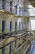The E wing inside the Onslow building at Wandsworth prison..HMP Wandsworth in South West London was built in 1851 and is one of the largest prisons in Western Europe. It has a capacity of 1456 prisoners.