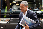 Brighton Manager, Chris Hughton arriving during the Sky Bet Championship play-off first leg match between Sheffield Wednesday and Brighton and Hove Albion at Hillsborough, Sheffield, England on 13 May 2016. Photo by Simon Davies.