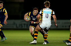 Connor Braid of Worcester Cavaliers takes on Connor Eastgate of Wasps A - Mandatory by-line: Robbie Stephenson/JMP - 03/04/2017 - RUGBY - Sixways Stadium - Worcester, England - Worcester Cavaliers v Wasps A - Aviva A League