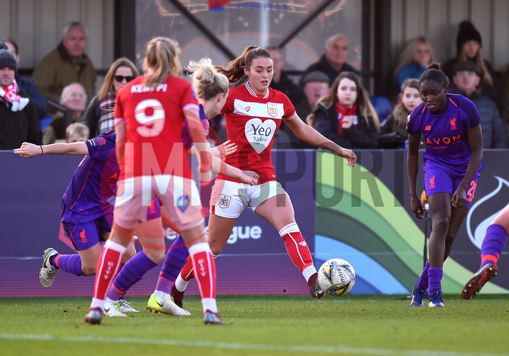 Ella Rutherford of Bristol City - Mandatory by-line: Paul Knight/JMP - 17/11/2018 - FOOTBALL - Stoke Gifford Stadium - Bristol, England - Bristol City Women v Liverpool Women - FA Women's Super League 1