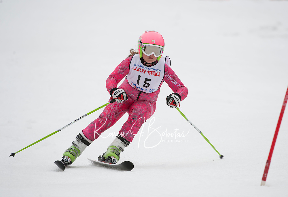 Francis Piche Invitational giant slalom for J5 at Gunstock March 17, 2012.
