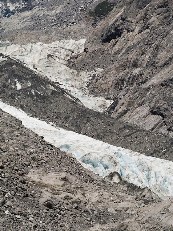 View of the Franz Josef Glacier, West Coast, New Zealand