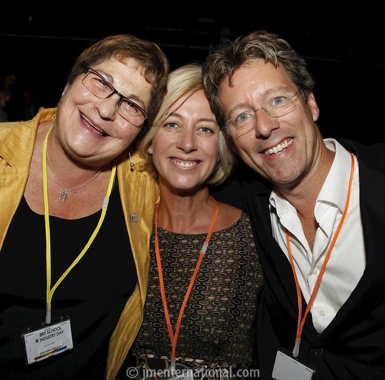 Pauline Etkin. Sam and John Marshall, The BRIT School Industry Day, Croydon, London..Thursday, Sept.22, 2011 (John Marshall JME)